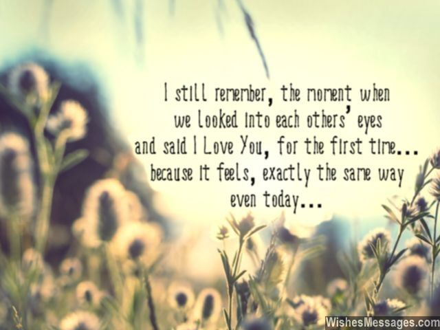i still remember the moment when we looked into each