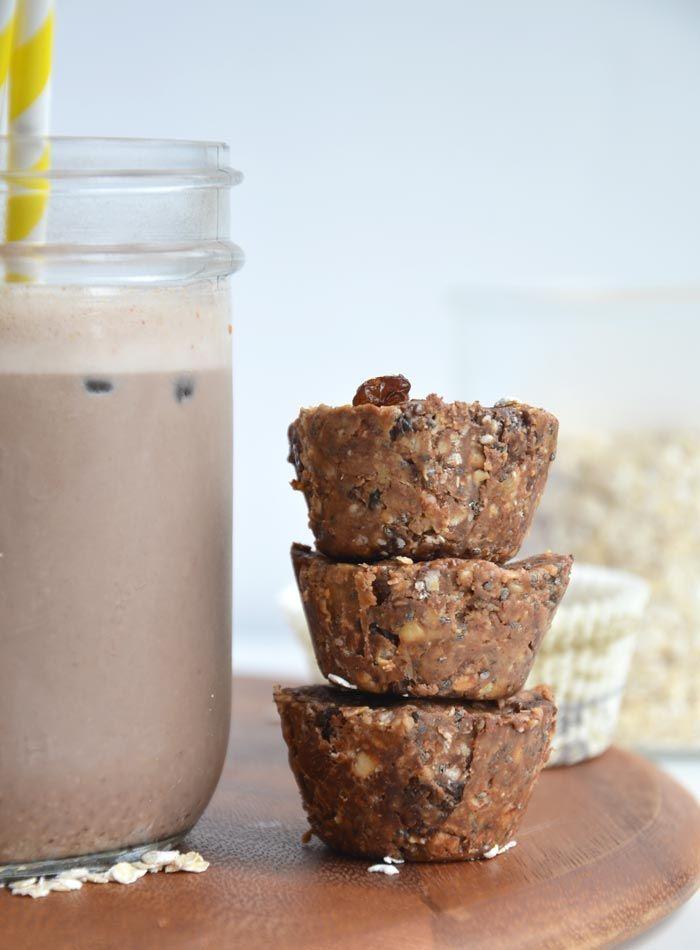 Mini Peanut Butter Oat Cups: Vegan, Gluten-Free, No-Bake, Ready in Minutes #adamsnaturalpb #veganrecipes