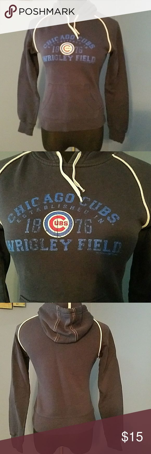 Chicago Cubs hoodie Chicago Cubs hoodie.  Tag says small, but fits more like an extra small. Tops Sweatshirts & Hoodies