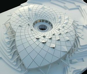 un:    (viachoucroute)model for a new building at the Eden Project, by Joylon Brewis