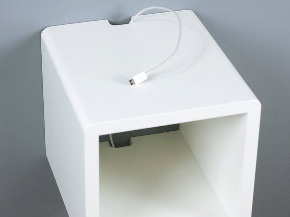 Mini Cubby Floating Nightstand Small Wall Mount Bedside Table Wall Mounted Bedside Table Small Wall Wall Mounted Shelves