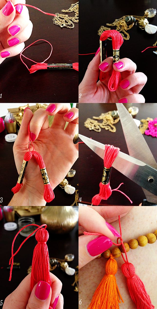 Sundae Brunch: DIY Tassel Necklace.