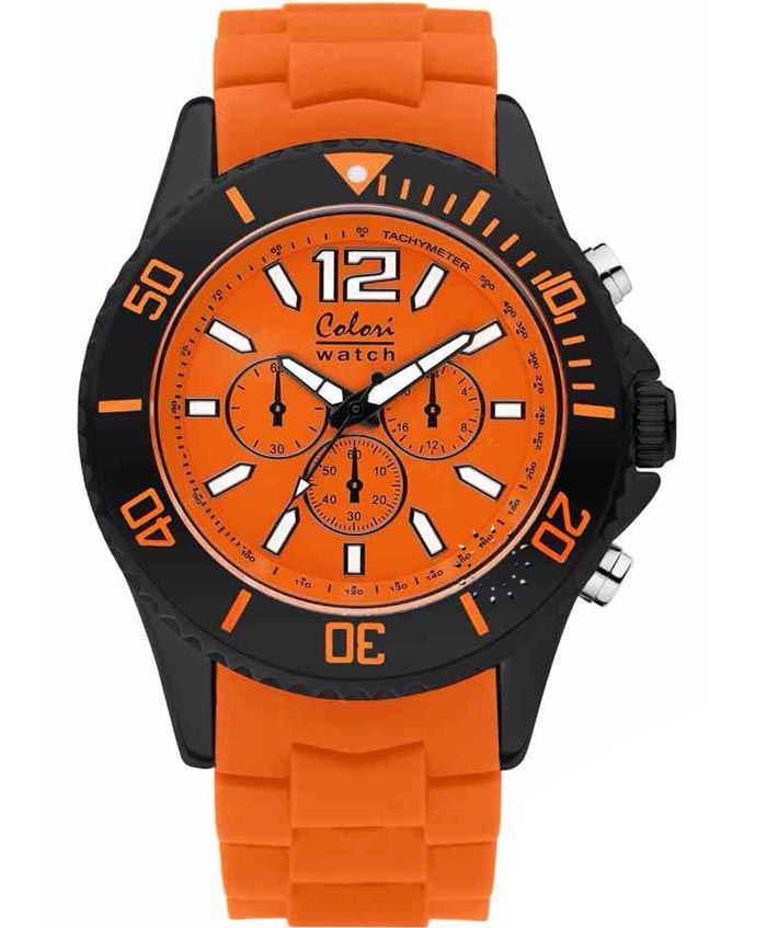 COLORI Cool Chrono Orange Silicone Strap Τιμή: 69€ http://www.oroloi.gr/product_info.php?products_id=35121