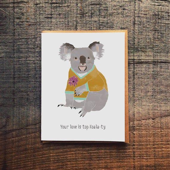 Funny Valentine Pun Card Animal Love Card Funny Koala Love Card Koala Valentine Love Day Card Funny Valentine Card For Him Funniest Valentines Cards Pun Card Love Cards