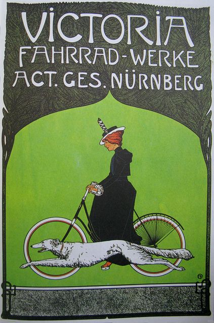 Vintage Bicycle Posters: Victoria Fahrrad-Werke, via Flickr.