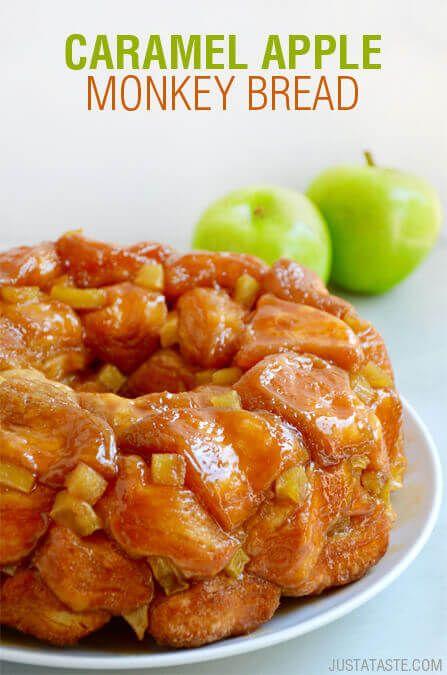 Easy Caramel Apple Monkey Bread Recipe