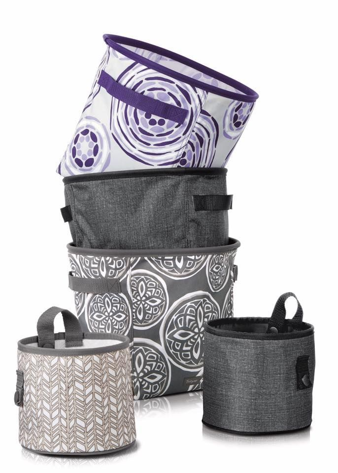 Thirty-One Gifts Mini Storage Bin, Oh Snap Bin Fall 2017 Kristin Moses Thirty-One Consultant  Shop here: www.mythirtyone.com/kristinmoses #thirtyonegifts #present #package #gift #fall #purple #tote #joinme #jointhirtyone #bosslady