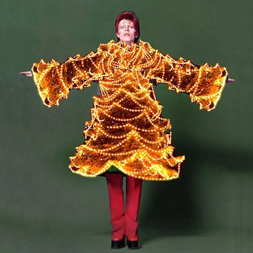 "Masayoshi Sukita, David Bowie in Kansai Yamamoto ""Done up like a Christmas Tree"""