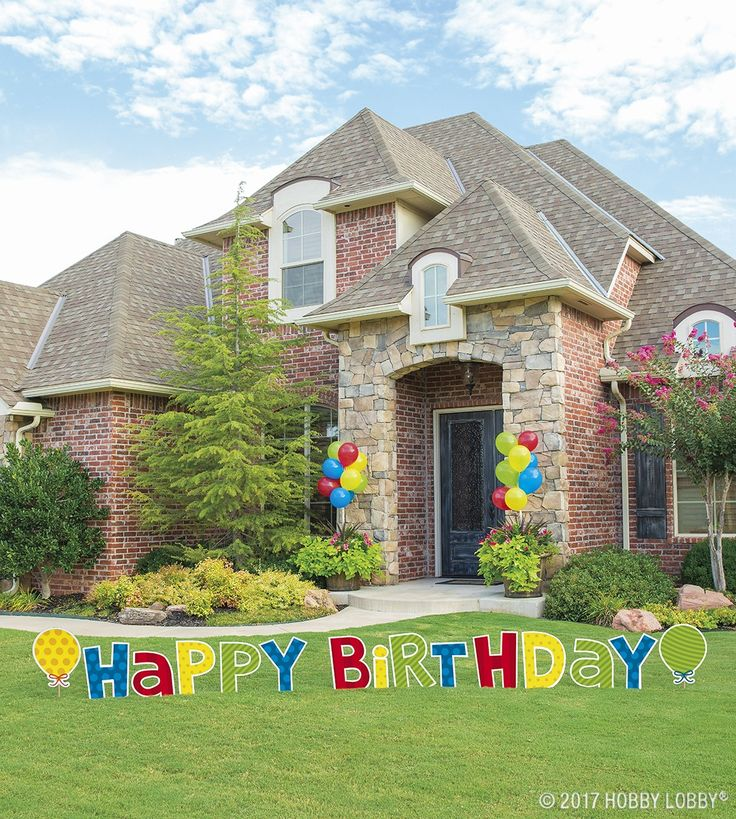 Supersize your party decor with our wide selection of jumbo lawn signs!