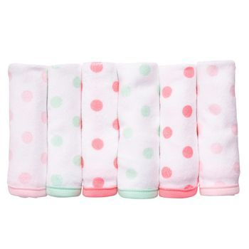 6-pack Washcloths....cute cheap baby stuff for all the baby showers coming up soon :)