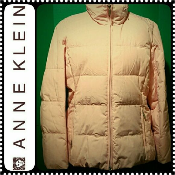Anne Klein Ladies Down Jacket AK Designer Down-Filled Puffer Jacket,  Comes With Zipped In Hoodie, Light Pink Shade,  Good Condition Anne Klein Jackets & Coats Puffers