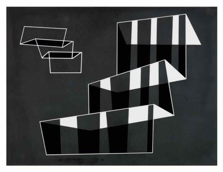 Cat. 1: Josef Albers, Stufen (Steps), 1931. Sandblasted opaque flashed glass, 16 x 21 in. (40.6 x 53.3 cm). The Josef and Anni Albers Foundation (2007.6.1).
