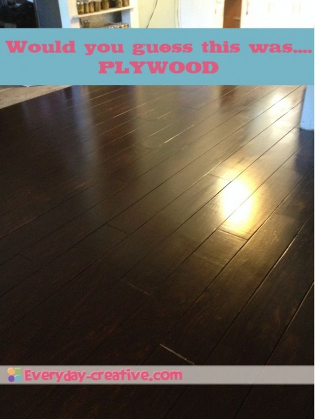 plywood plank flooring!!! An alternative to its more expensive cousin...hardwood :)