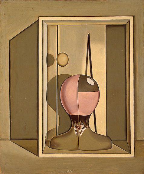 Metaphysical Still Life, 1918 by Giorgio Morandi. Metaphysical art. still life