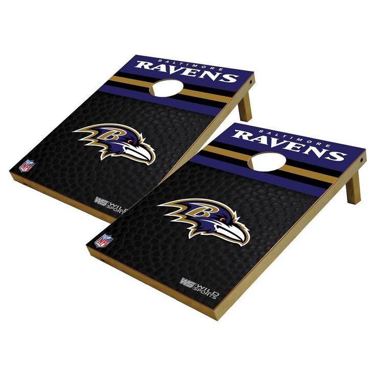 NFL Baltimore Ravens Wild Sports Platinum Shield Cornhole Bag Toss Set, Durable