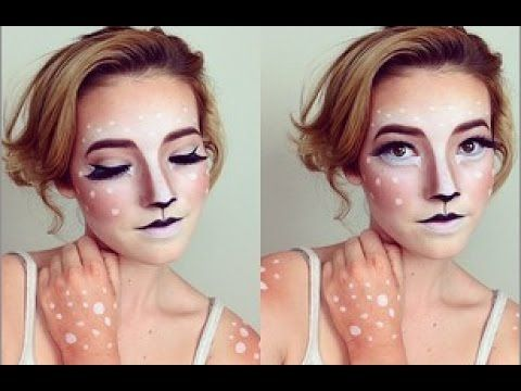 ✿ Fawn ✿ Makeup Tutorial (Cute & Easy!) I know this is for a dear, but this is strangely pretty