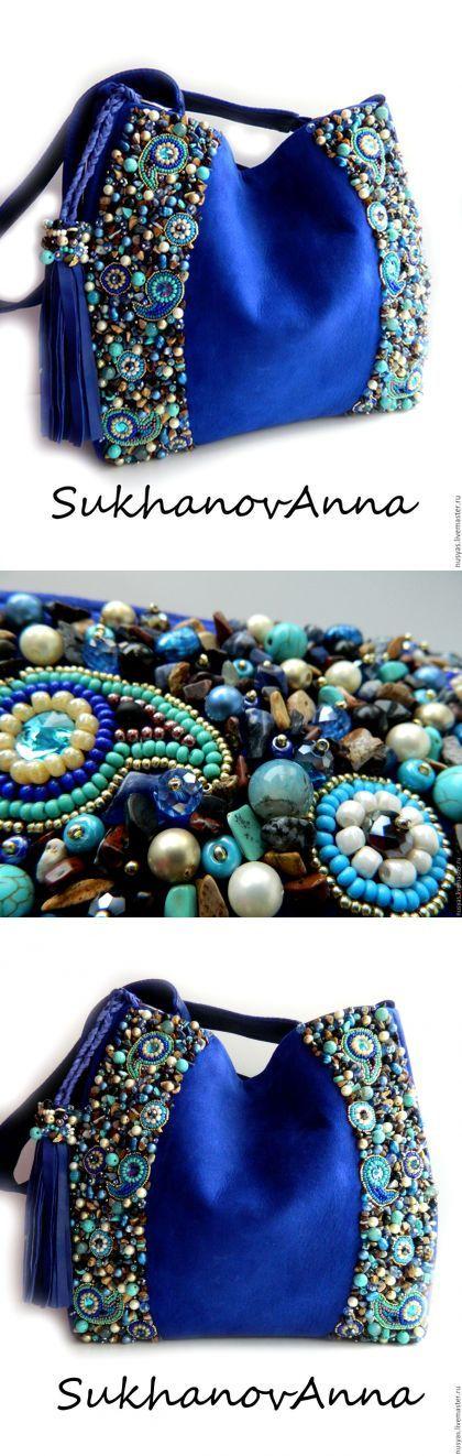 """Купить Сумка """"Ультрамарин"""" - темно-синий, Ультрамарин, синий, ярко-синий, сумка кожаная"""