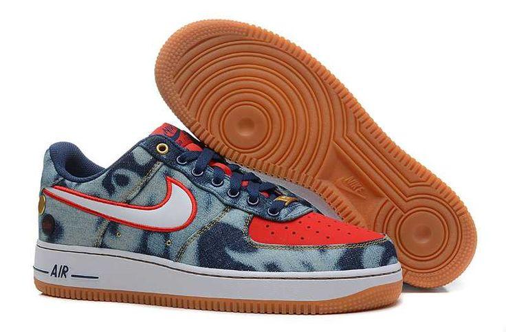 https://www.sportskorbilligt.se/  1830 : Nike Air Force One Low Herr Midnight Navy Vit Red SE760439ggbeThb