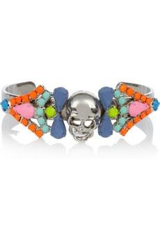 Tom Binns | Rainbow's End painted Swarovski crystal skull cuff | NET-A-PORTER.COM