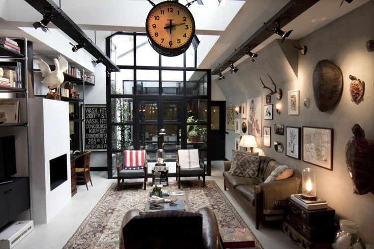 """After spending several years working as a designer for Kelly Hoppen, James van der Velden set up shop in Amsterdam and his company """"Bricks"""" was born. This beautiful home was once an old garage,not only did Bricks rebuild the whole place but also furnished it in its entirety making it ready to move in …just bring your toothbrush! Love it… kateyoungdesign.tumblr.com"""