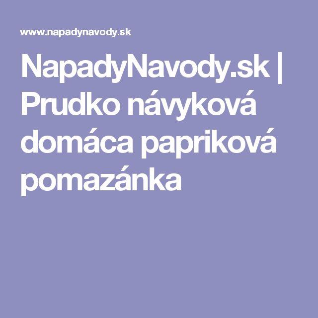 NapadyNavody.sk | Prudko návyková domáca papriková pomazánka
