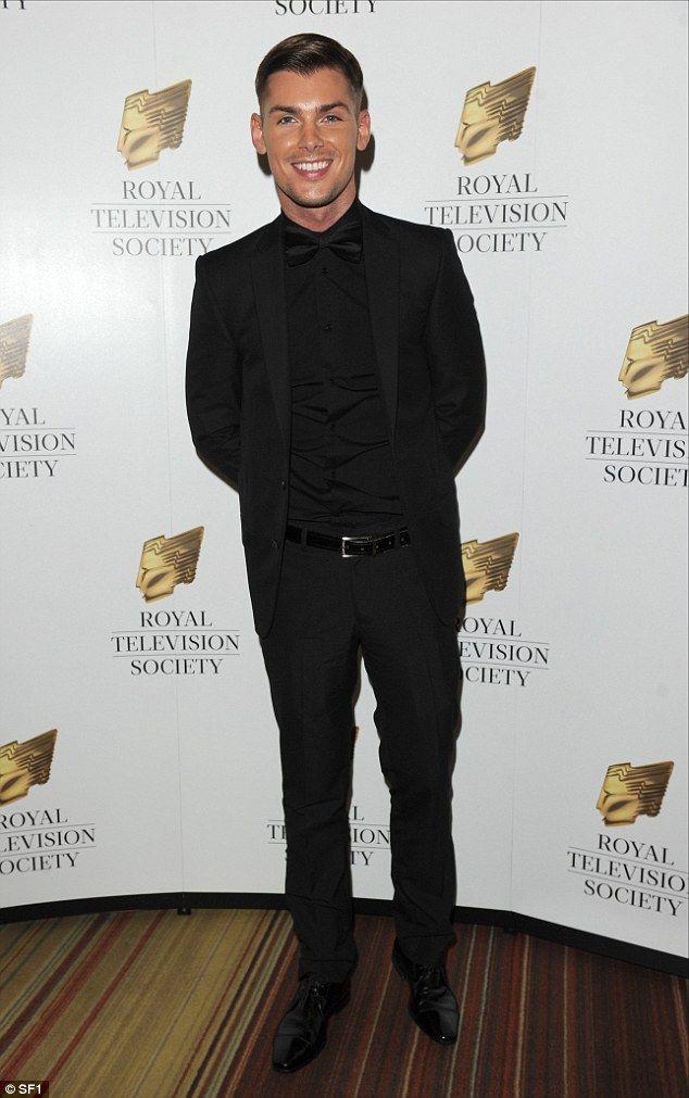 Back to black: Hollyoaks actor Kieron Richardson cut a dash in an all black ensemble. He w...