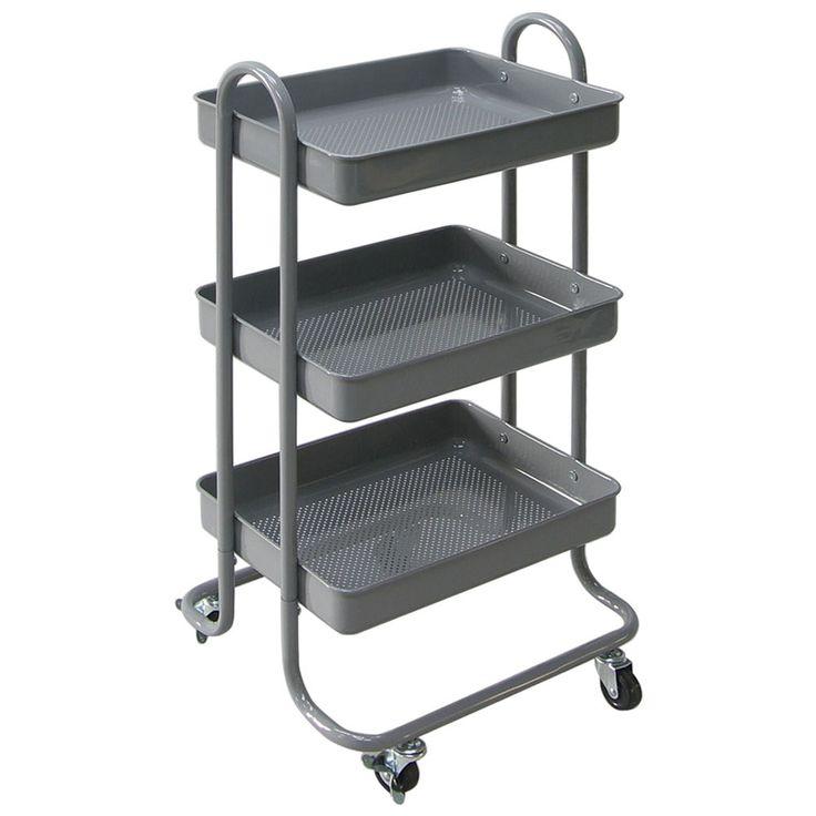 Servierwagen Küchenwagen Küchentrolley dunkelgrau Beistellwagen Rollwagen IKEA