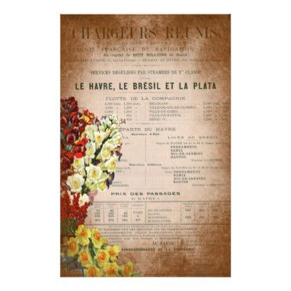 Vintage French Newspaper Journal Scrapbooking Page Stationery - antique gifts stylish cool diy custom
