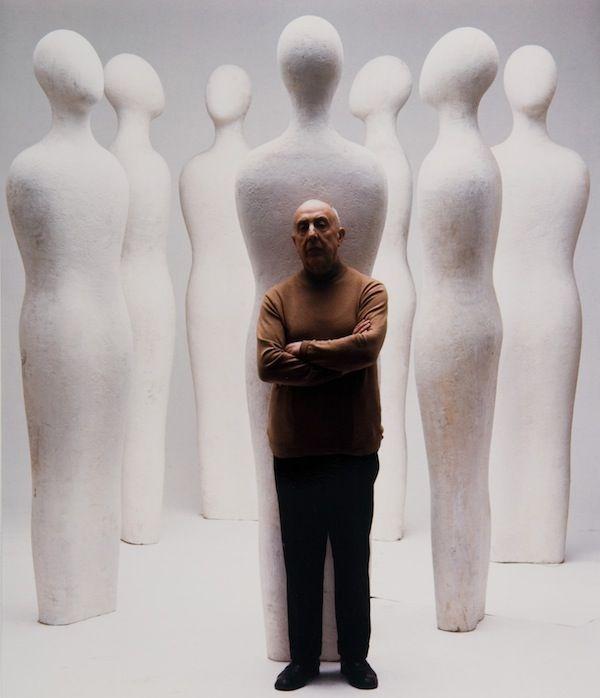 Fausto Melotti in his studio by Ugo Mulas
