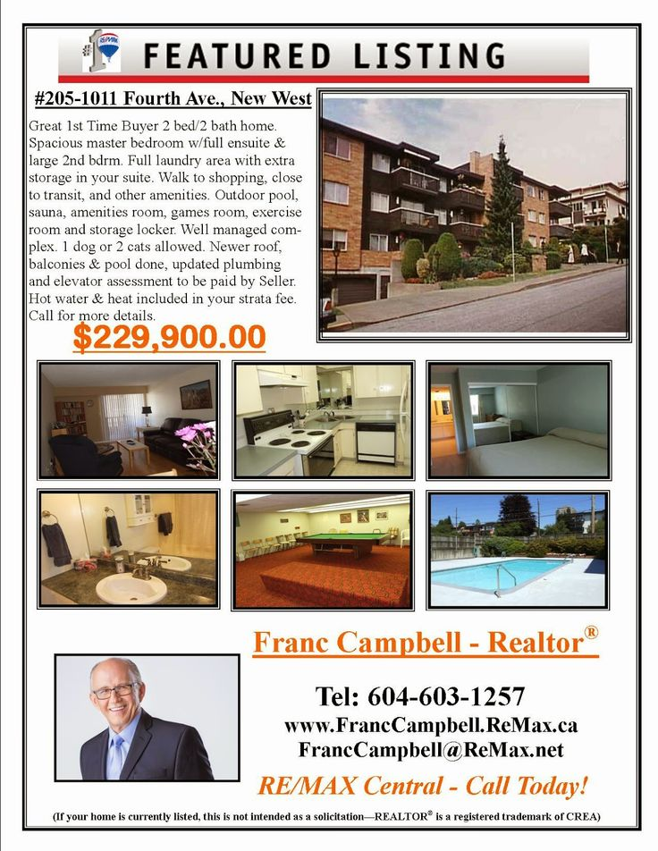 Franc Campbell: New West Condo, First Time Buyers Alert !!