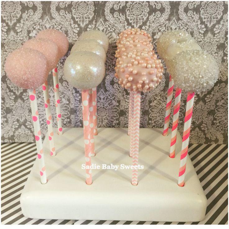 cake pop ideas wedding shower%0A Shades of pink bridal shower cake pops