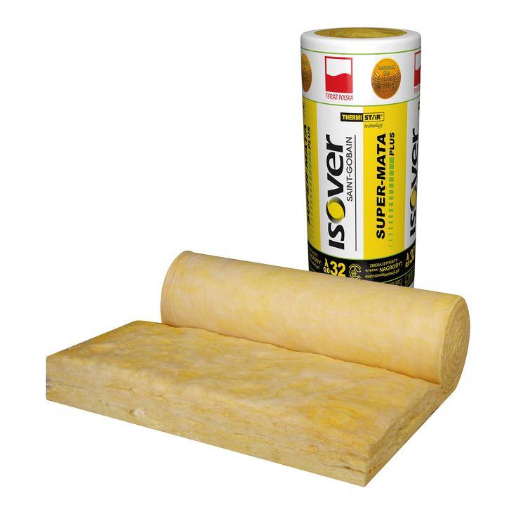 ISOVER powiększa ofertę low lambda. Super-Mata Plus to sprężysta mata szklana w rolce do izolacji termicznej i akustycznej poddaszy użytkowych i nieużytkowych, stropodachów wentylowanych, podłóg, stropów pomiędzy legarami, czy ścian działowych o współczynniku λD = 0,032 W/mK.  Każda rolka Super-Maty Plus wyposażona jest w praktyczną etykietę z rączką, która w znacznym stopniu ułatwia transport produktu.