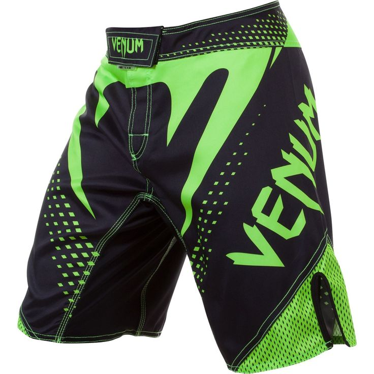 Venum Hurricane Fight Shorts - Black / Neon Green