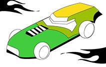 Jogos de pintar e colorir online para crianças: Carro Novo