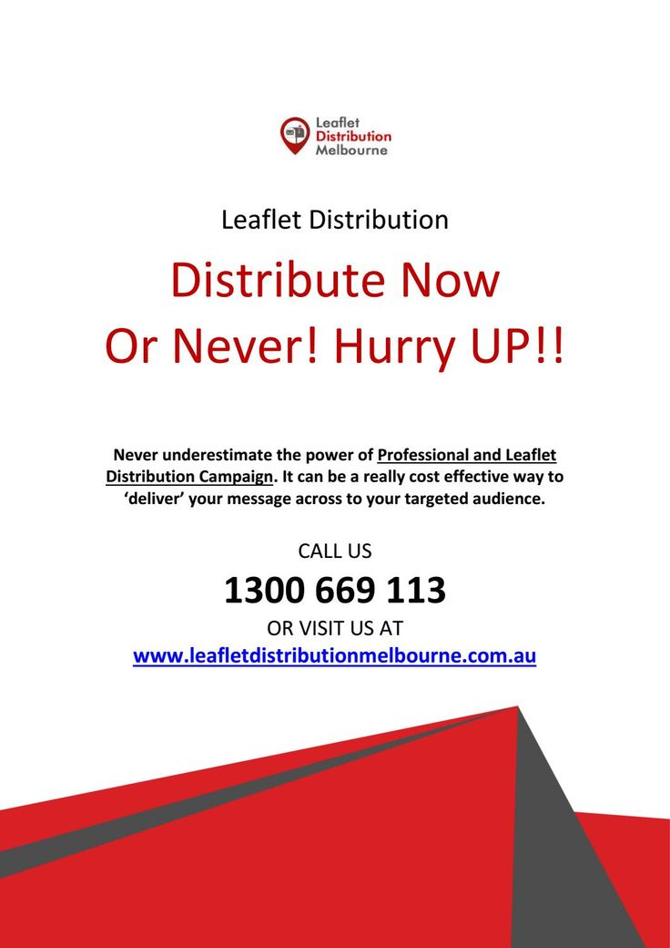 Target Your Audience with Printed #Leaflet #Distribution in Melbourne
