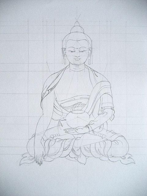 Tibetan Thangka Drawing | Flickr - Photo Sharing!