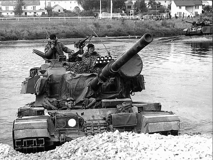 1972 Royal Canadian Dragoons Centurions Fording Corps Exercise.