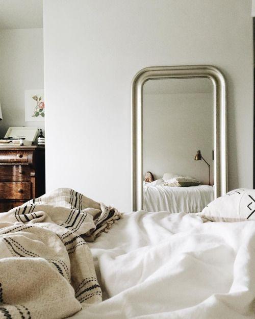 miroir ancien coloris or blanc