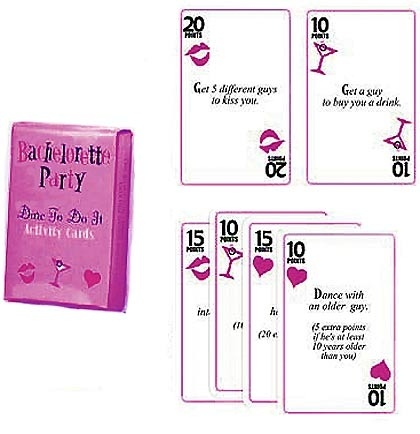 Bachelorette Dare Card Game