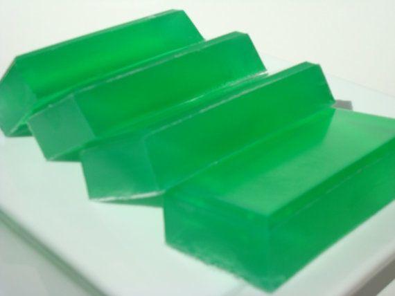 Pear Soap - Bright Green Soap, Hoooked Soap, Homemade Soap, Bar Soap by HoookedSoap, $5.00