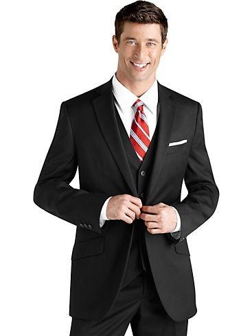 Suits & Suit Separates - English Laundry Black Vested Slim Fit Suit - Men's Wearhouse. With a black tie... Perfection.: English Laundry, Black Ties, Slim Fit Suits, Black Vest, Suits Men, Laundry Black, Vest Slim, Men Suits, Vest Suits