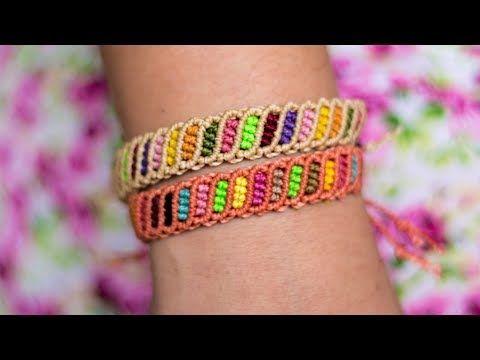 Pulsera macrame multicolor | Pulseras de hilo faciles y rapidas | Easy bracelet macrame - YouTube
