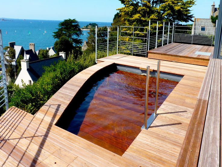 17 best images about piscines citadines on pinterest for Piscine fond mobile belgique