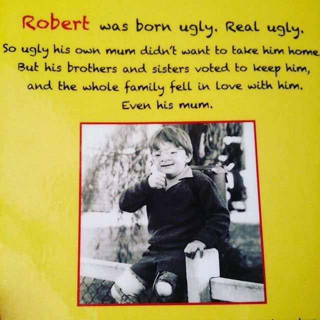 Ugly author Robert Hoge may not have looked the same as other kids growing up, but I still reckon he was a pretty cute kid. He's grown up to be a fantastic writer (among other things) with the children's version of his memoir #Ugly pitched perfectly to kids, helping them empathise with others who may be different without preaching to them. Ugly is my pick for the #ekbooks #picbookaday challenge, day 28 theme: diversity.