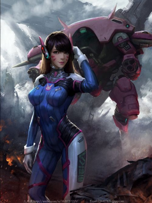 D.Va Fan Art - Created by Qi Chen