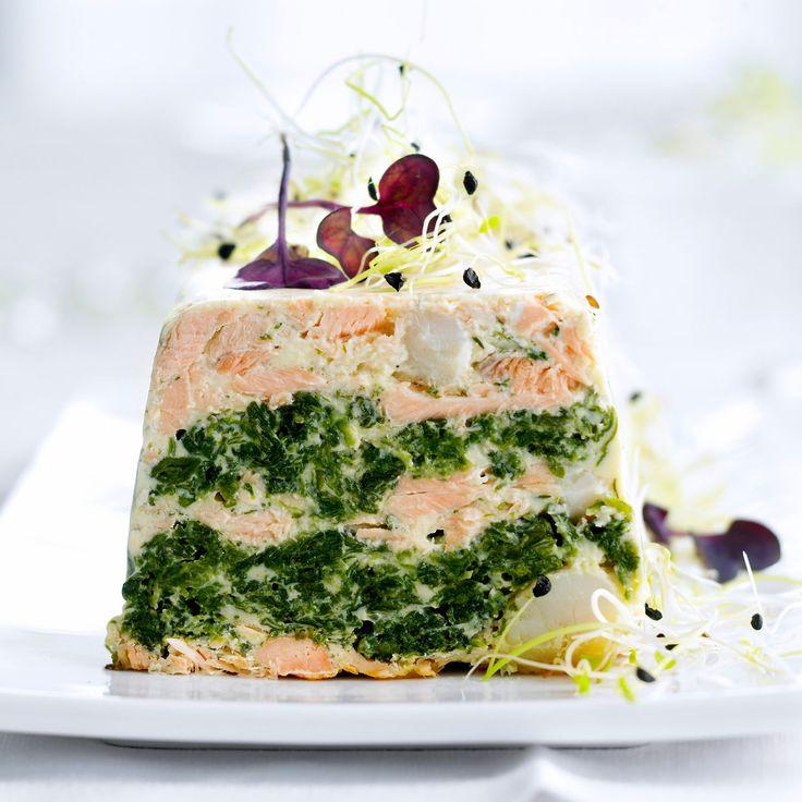 Découvrez la recette Terrine de saint-jacques et saumon sur cuisineactuelle.fr.                                                                                                                                                                                 Plus