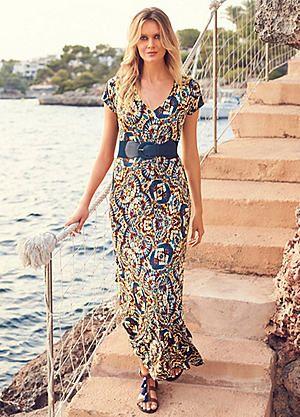 Waist Belt Print Maxi Dress #kaleidoscope #wedding #abroad