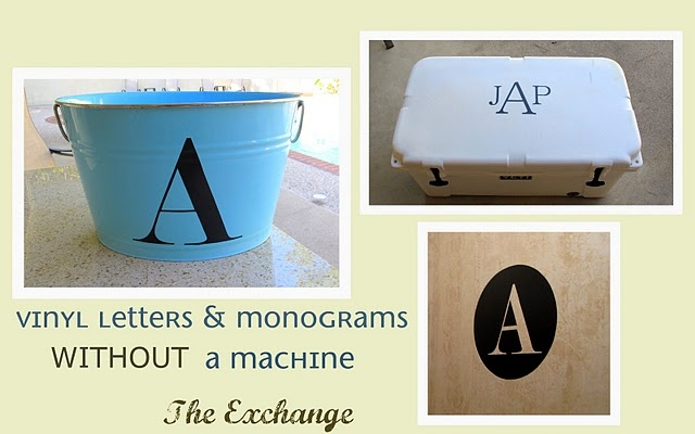 DIY: Vinyl letters & monograms | I Think I Can- I Think I Can | Pinte ...