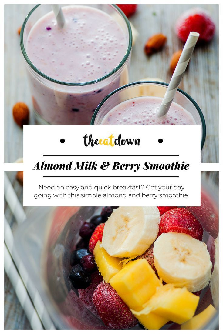 almond milk & berry smoothie | recipe in 2018 | breakfast and brunch