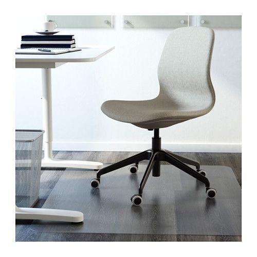 LÅNGFJÄLL Chaise pivotante - Gunnared vert clair, noir - IKEA